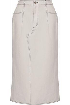 3.1 PHILLIP LIM Lace-up denim midi skirt