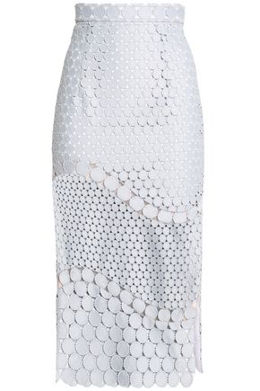 RACHEL GILBERT Guipure lace midi skirt