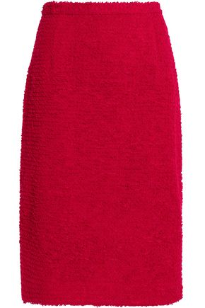 OSCAR DE LA RENTA Bouclé-knit pencil skirt