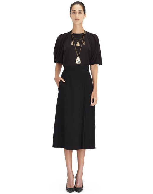 HIGH-WAISTED PLEATED SKIRT - Lanvin