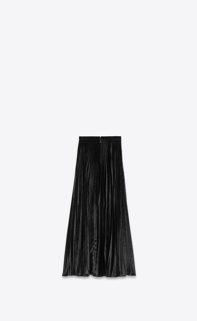 SAINT LAURENT Long Skirts Woman Pleated skirt in black velvet b_V4