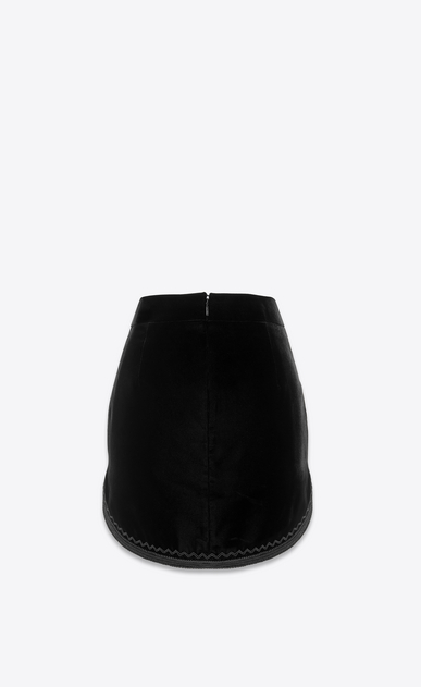 SAINT LAURENT Short Skirts Woman Skirt in black velvet b_V4