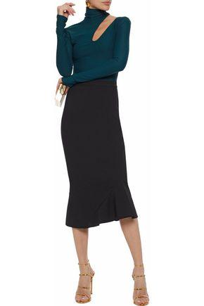 RACHEL GILBERT Cecilie fluted crepe midi skirt