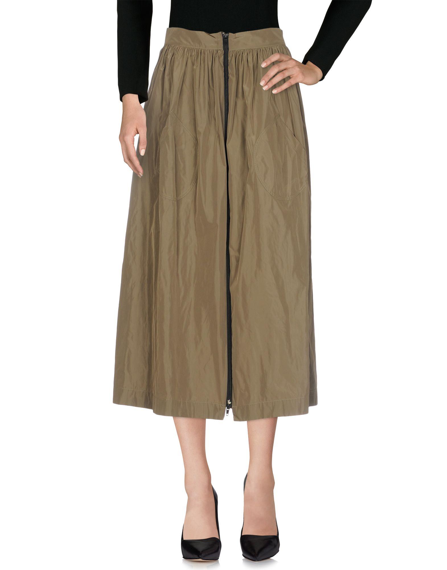 《送料無料》BLUKEY レディース 7分丈スカート ミリタリーグリーン 44 ポリエステル 100%