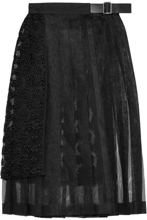 NOIR KEI NINOMIYA Layered embroidered tulle wrap skirt
