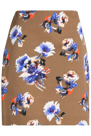 MSGM Floral-print cotton-twill mini skirt