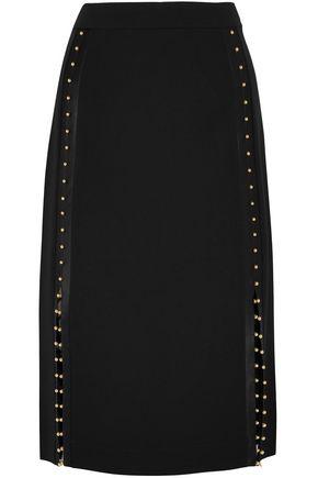 ALTUZARRA Welkes studded silk satin-trimmed crepe skirt