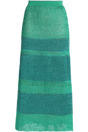 MISSONI Metallic crochet-knit midi skirt