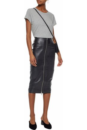 MUUBAA Leather pencil skirt