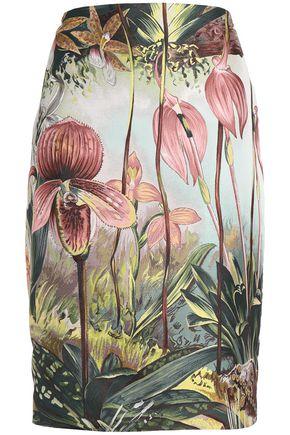 ADAM LIPPES Floral-print jacquard pencil skirt