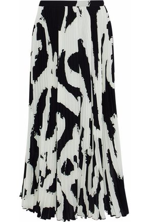 PROENZA SCHOULER Pleated printed crepe midi skirt