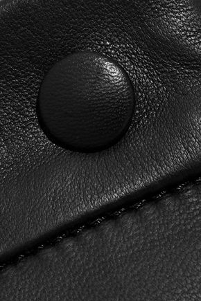 IRIS & INK Lena leather midi skirt