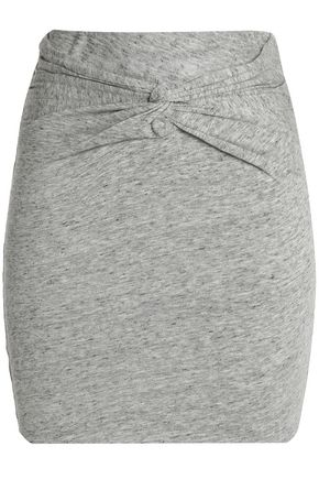 IRO Twist-front cotton and modal-blend jersey mini skirt