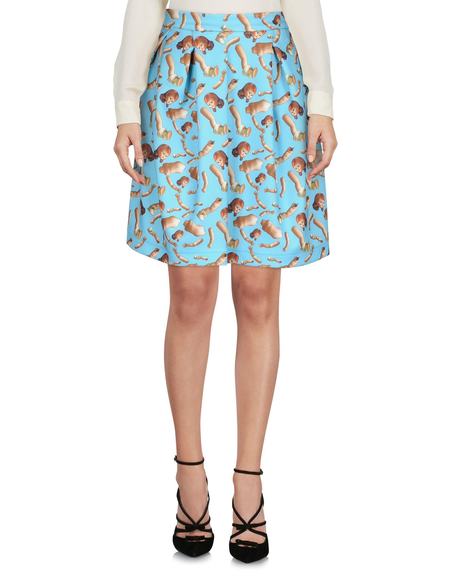 GIORGIA FIORE Knee Length Skirt in Sky Blue