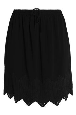 IRO Scalloped crepe mini skirt