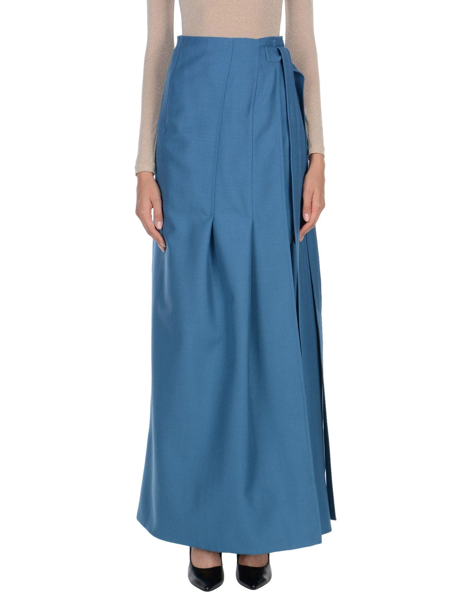 CELINE Длинная юбка юбка с запахом на пуговицах