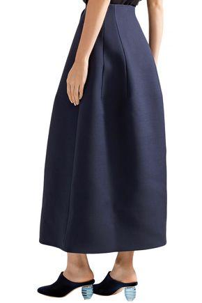THE ROW Batley flared wool and silk-blend maxi skirt