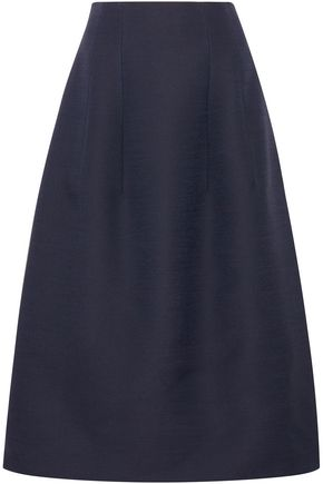 THE ROW Batley flared wool and silk-blend maxi skirt