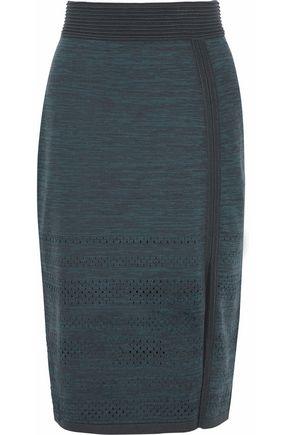 HOUSE OF DAGMAR Salla mélange stretch-knit skirt