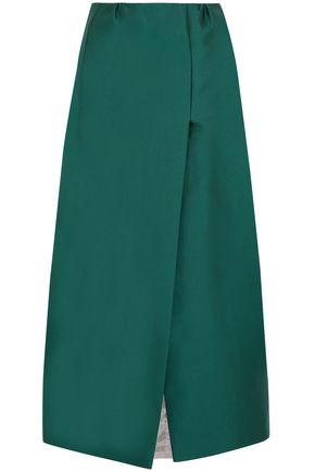 MERCHANT ARCHIVE Duchesse satin midi skirt