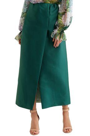 MERCHANT ARCHIVE Duchesse satin midi skirt