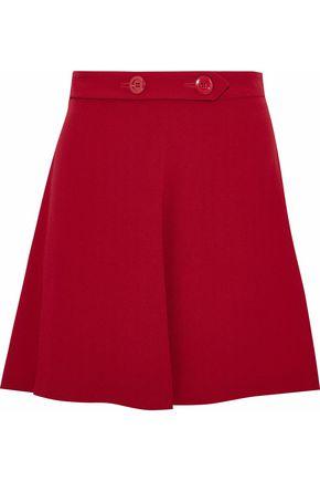 REDValentino Fluted crepe mini skirt