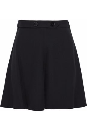 REDValentino Fluted crepe mini skirt