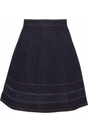 REDValentino Flared denim mini skirt