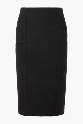 THE ROW Mattie pointelle-trimmed scuba skirt