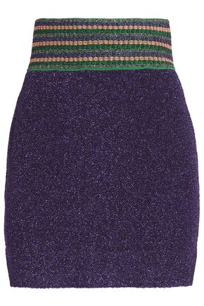 MISSONI Metallic jacquard-knit mini skirt