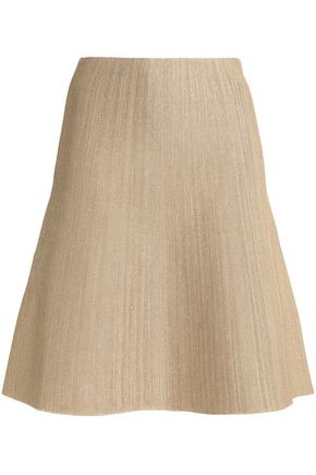 HOUSE OF DAGMAR Anette flared stretch-knit skirt