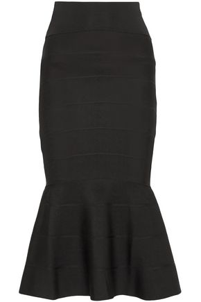 GIVENCHY Fluted stretch-knit midi skirt