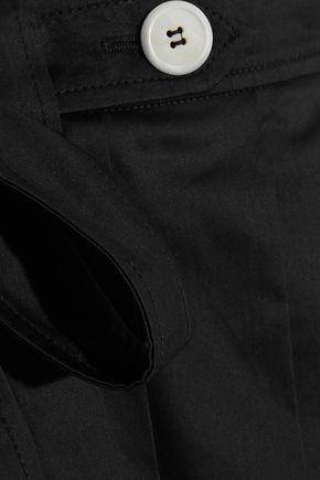 MIU MIU Pleated cotton-twill wrap mini skirt