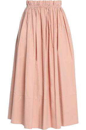 CHLOÉ Pleated cotton midi skirt