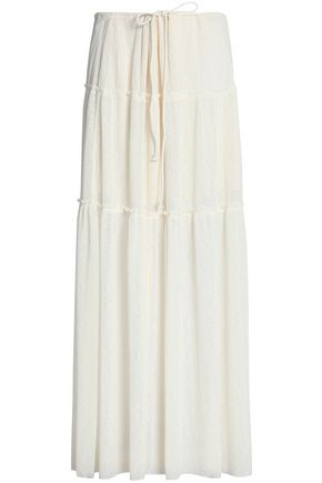 SEE BY CHLOÉ Gathered ribbed-knit maxi skirt