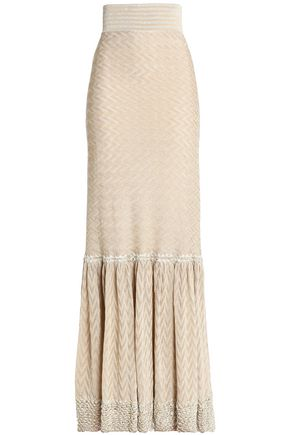 MISSONI Metallic jacquard-knit maxi skirt