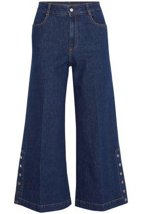 STELLA McCARTNEY Button-detailed denim culottes