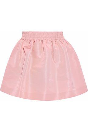REDValentino Gathered satin-faille mini skirt