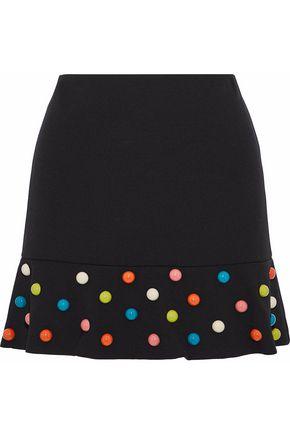 REDValentino Fluted embellished cady mini skirt