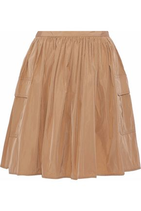 REDValentino Flared gathered shell mini skirt