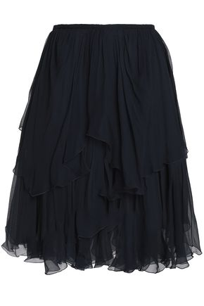 CHLOÉ Ruffled silk-georgette skirt