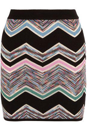 MISSONI Crochet wool-blend mini skirt