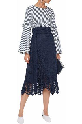 GANNI Flynn lace midi wrap skirt