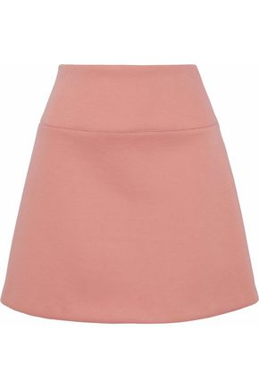 REDValentino Flared neoprene mini skirt