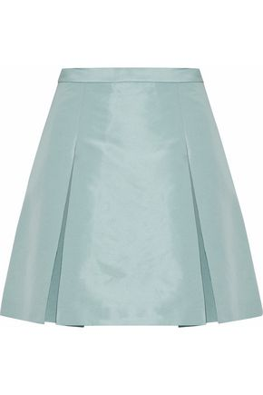 REDValentino Pleated satin-faille mini skirt