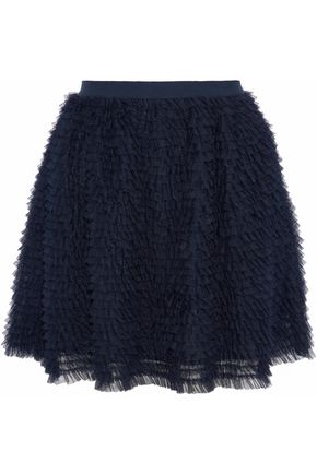 REDValentino Ruffled tulle mini skirt