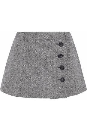 REDValentino Layered herringbone shorts
