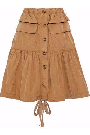 REDValentino Gathered taffeta skirt
