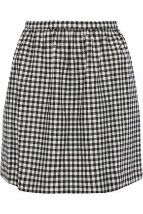REDValentino Checked woven mini skirt