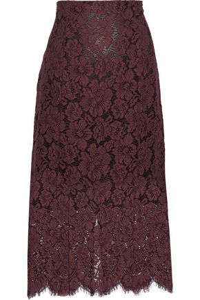 GANNI Corded lace skirt